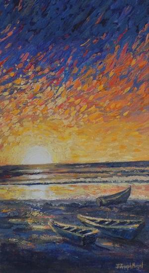 judy sunset in claxton bay